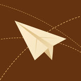 Paper planes. Paper airplanes and other flight routes Stock Photography