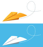 Paper planes. In two different colors of paper airplane Royalty Free Stock Photos