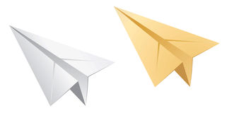 Paper planes. In two different colors of paper airplane Stock Image