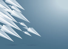 Paper planes background Stock Images