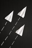 Paper Planes in Formation Royalty Free Stock Images