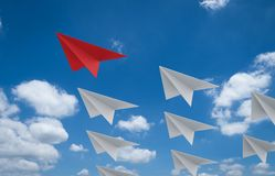 Paper planes for leadership. 3d rendering paper planes for leadership concept royalty free stock image
