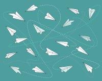 Paper planes pattern b Royalty Free Stock Image