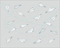 Paper planes pattern Royalty Free Stock Images