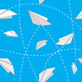 Paper planes. Seamless background with paper planes Royalty Free Stock Photos