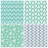 Paper Planes Seamless Pattern Set. Four Repeating Abstract Backgrounds with Paper Planes Symbol. Set of 4 paper planes seamless patterns. Repeating abstract Stock Photos