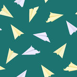 Paper planes seamless texture Stock Image