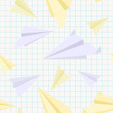 Paper planes seamless texture Stock Images