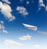 Paper planes in sky Royalty Free Stock Photography