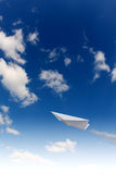 Paper planes in sky Stock Photo
