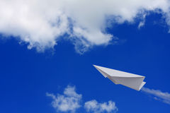 Paper planes in sky Stock Photography