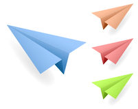 Paper Planes Vectors Royalty Free Stock Photo