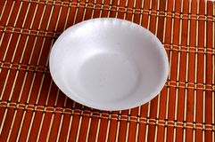Paper plate with mat texture background. Camera shot on paper plate with mat texture background Royalty Free Stock Images