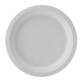 Paper plate  on white background Royalty Free Stock Images