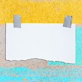 Paper on plywood Stock Photo
