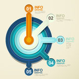 Paper pointer infographic elements Royalty Free Stock Photo