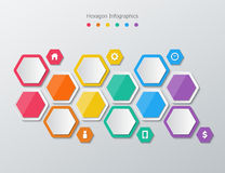 Paper polygon infographics Stock Photography