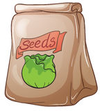 A paper pouch with seeds Stock Photo