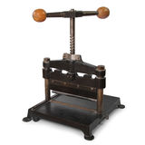 Paper press. Old paper press isolated in white background royalty free stock image