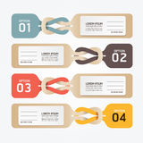 Paper price tag option number Stock Photography