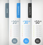 Paper Pricing Tables Stock Photography