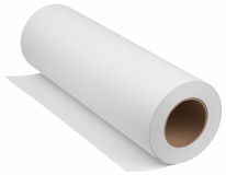 Roll paper. Paper for printers and engineering machines. Object is isolated on white background without shadows royalty free stock photo