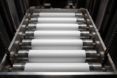 Paper for printing press. The device of giving of a paper in a printing press Royalty Free Stock Image