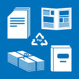 Paper processing. Documents, archives, books - Paper processing Stock Photos