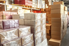 Paper products and goods storehouse Stock Images