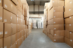 Paper products and goods storehouse Royalty Free Stock Photography
