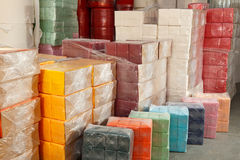 Paper products and goods storehouse Stock Photo