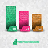 Paper Progress Background Royalty Free Stock Photos