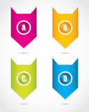 Paper progress labels Royalty Free Stock Image