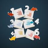 Paper Progress Steps for Tutorial, Infographics Stock Photos