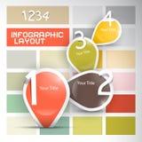 Paper progress steps for tutorial, infographics set Stock Image