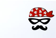 Paper props for holidays and parties. party for halloween, pirate party. royalty free stock photography