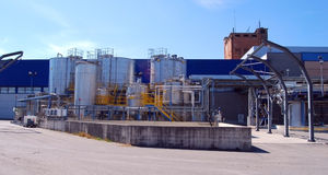 Paper and pulp mill Stock Image