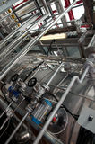 Paper and pulp mill - Cogeneration plant Stock Images