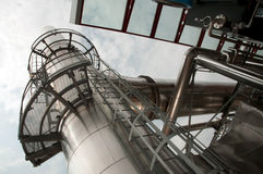 Paper and pulp mill - Cogeneration plant Royalty Free Stock Photography