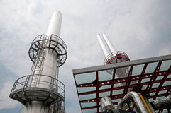 Paper and pulp mill - Cogeneration plant Stock Photography