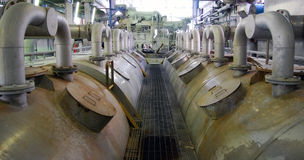 Paper and pulp mill - De-inking plant Stock Image