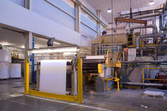 Paper and pulp mill - Factory (Finishing Line) Stock Photography