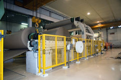 Paper and pulp mill - Fourdrinier machine Stock Photos