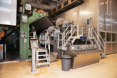 Paper and pulp mill - Fourdrinier machine Stock Images