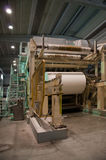Paper and pulp mill - Fourdrinier machine Royalty Free Stock Photo