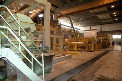 Paper and pulp mill - Fourdrinier machine Stock Photo
