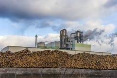 Paper and pulp mill. In Kunda, Estonia stock photo