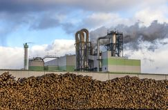 Paper and pulp mill. In Kunda, Estonia Royalty Free Stock Photography