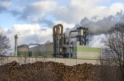 Paper and pulp mill. In Kunda, Estonia Royalty Free Stock Image