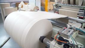 Paper and pulp mill. Machinery stock video